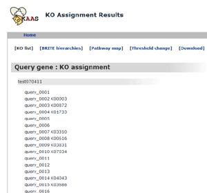 KAAS - KEGG Automatic Annotation Server